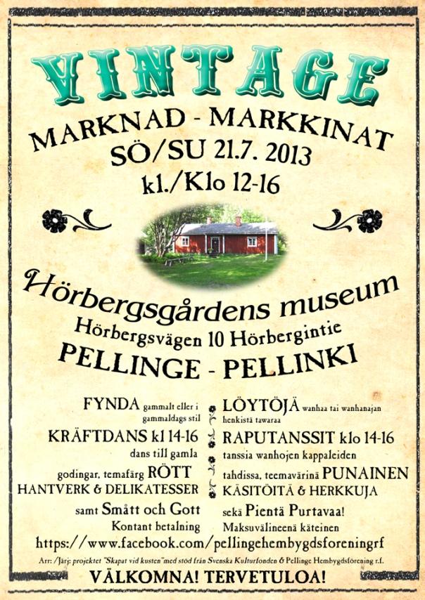 Vintage marknad markkinat  2013 Pellinge - Pellinki